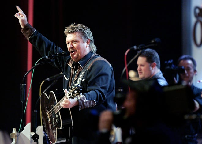 Joe Diffie performs at the Grand Ole Opry Sept. 12, 2006 during a special tribute to George Jones for his 75th birthday. One of Diffie biggest hits is