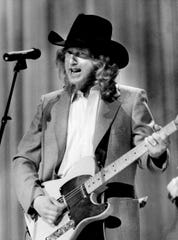 """Warner Bros. Records' John Anderson performs the 1983 Top Country Song of the Year, """"Swingin',"""" during the annual Music City News Awards show Jan. 18, 1984 at TPAC. The artist co-wrote the smash hit with his buddy, Lionel Delmore."""