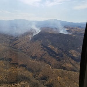The Verde Fire, four miles east of the Rio Verde community, started with a lightning strike and had burned more than 200 acres as of the morning of August 4, 2019.