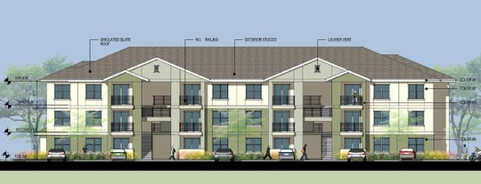 Exterior elevation for the Steamboat by Vintage housing development in south Reno.