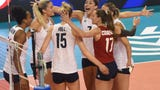 USA women's volleyball team vs. Bulgaria Saturday, August 3, 2019, at the CenturyLink Center in Bossier City in the second of three matches trying to qualify for the Tokyo Olympic Games.