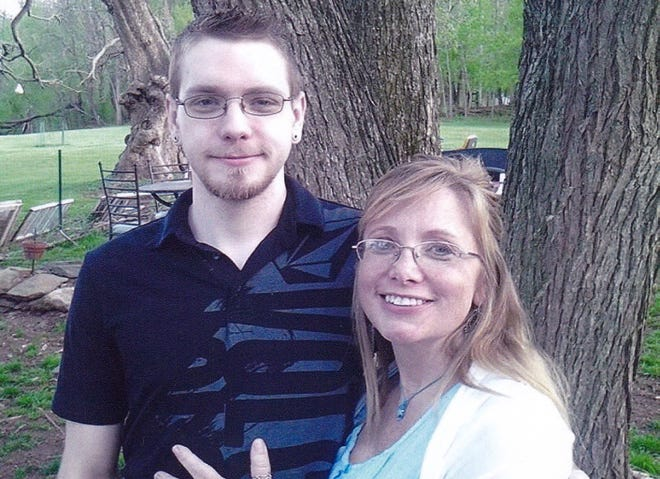 Josh Wilkerson is pictured with his mother Erin Weaver in Leesburg, Virginia, in 2016.