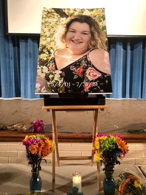 A vigil was held at Fort Defiance High School Saturday night to remember Hailey Green, who died in a car wreck Wednesday, July 31.