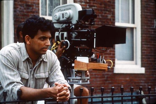 "Director M. Night Shyamalan on the set of ""The Sixth Sense"""