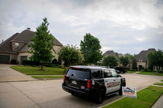 A view of the home of Patrick Crusius after members of the Allen police department and the FBI gathered evidence for their investigation. Crusius is the named suspect who allegedly killed 20 people in a mass shooting at a Walmart shopping center in El Paso, Texas.