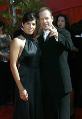 """Donnie Wahlberg and his wife, Kim, at the Emmys in 2002. The actor left his wife and kids to prepare for """"The Sixth Sense."""""""