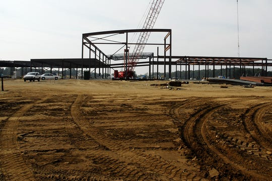In this 2008 photo, construction progresses on the north end of the new FireKeepers Casino at 11177 Michigan Ave.