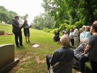 Service at Riverside Cemetery celebrates the lives of the Dickinson sisters