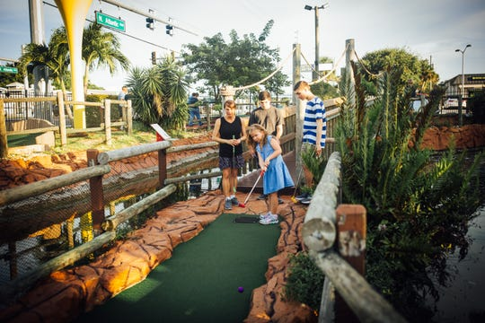 About 100 people turned out for the mini-golf tournament fundraiser to send Israeli and Brevard students to the International Space Camp at Kennedy Space Center