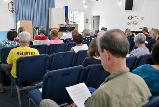People listen to the speakers during Saturday's Better Angels skills workshop at Unitarian Universalist Church of Brevard in West Melbourne. The event was organized by FLORIDA TODAY's Civility Brevard project.