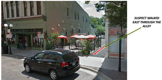 The alley near Blind Bob's.