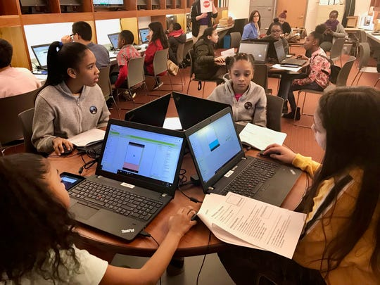 21st Century Community Learning Center students from Soehl Middle School in Linden learned coding and app development during a trip to Liberty Science Center in March. The program, which includes a focus on technology to prepare students for careers in the STEM fields, was honored by the New Jersey Department of Education.
