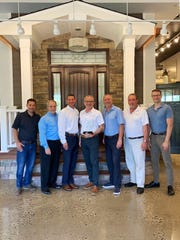 Bellari received its 17th Platinum Dealer Award from custom door provider ProVia. Pictured at the recent award presentation at Bellari's Branchburg showroom are (left to right): Frank Herbert, Bellari vice president of production; Ken Young, ProVia director of sales, Windows & Doors (Northeast Region); Bob Rossi, ProVia account manager; David Gropper, Bellari president; Gary Shiman, Bellari executive vice president; Stephen Fazekas, Bellari senior sales consultant; and Marcin Serafin, Bellari sales consultant.
