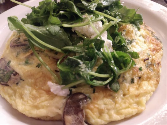 Eatery A's Omelette with Italian Sausage Patty