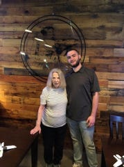 Dax Bordenaro with his grandmother, Trudy Bordenaro, at Mama Mia's in Des Moines.