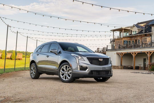 The 2020 Cadillac XT5 Sport gets upgrades over the standard Luxury model with a 3.6-liter V-6, dual-clutch-pack all-wheel drive system and 20-inch wheels. You'll know the Sport by its blacked-out grille.