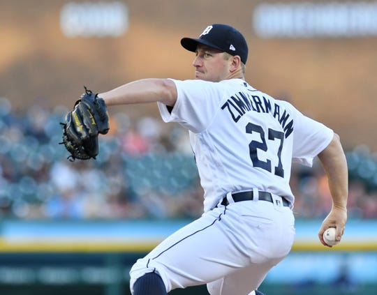 The Tigers placed started Jordan ZImmermann on the injured list on Monday.