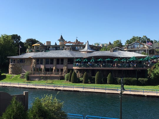Earl Young's 1954 Stafford's Weathervane Restaurant sits on the channel between Charlevoix's Round Lake and L. Michigan.