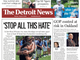 The front page of the Detroit News on Monday, August 5, 2019