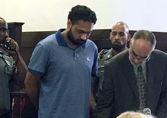 In this July 2, 2019 file photo Gurpreet Singh is arraigned in Superior Court in New Haven, Conn., in connection to the deaths of four people in West Chester, Ohio in April.