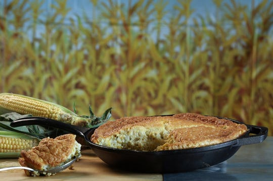 Spoon bread is a longtime Southern favorite. This green chile-cheese-corn version gets a double hit of corn flavor from cornmeal and fresh corn kernels. (