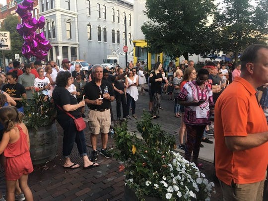 """We have been inducted into the select group of cities that have had this type of tragedy,"" Dayton Mayor Nan Whaley said as thousands of people gathered for a vigil honoring the victims of the Dayton mass shooting in in the city's historic Oregon District."