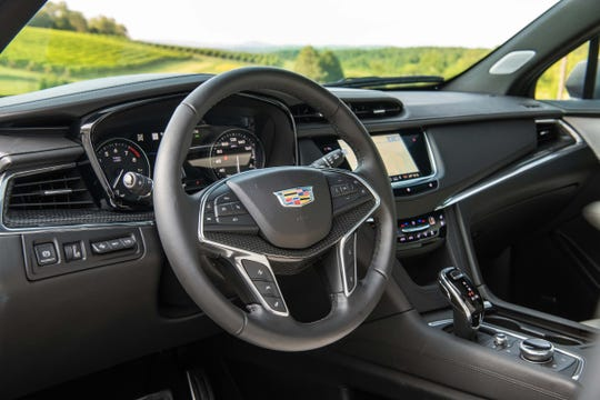 The interior of the 2020 Cadillac XT5 gets a significant upgrade with an all-new CUE infotainment system and remote screen controller.