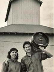 Wynne and Doug Odell pictured in 1989, the year they started Odell Brewing Co. with Doug's sister, Corkie.