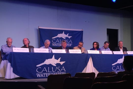 Panelists discuss the health implications of harmful algal blooms highlighted in the new film, 'Troubled Waters.'