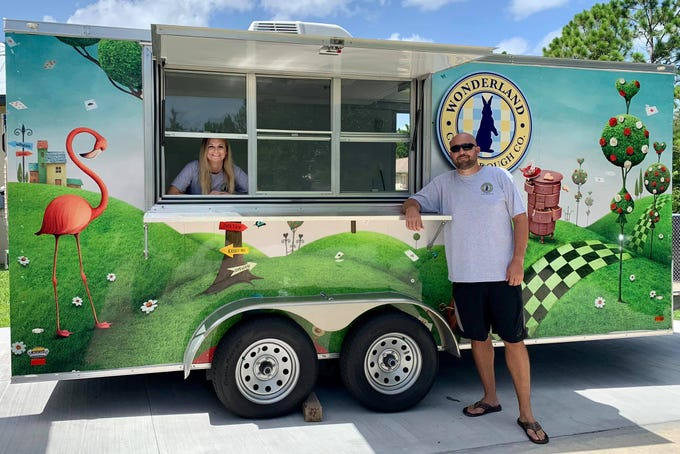 Jeff Smith launched the Wonderland Cookie Dough of SWFL food truck in July 2019.