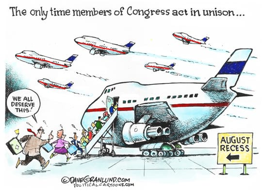 Jets leave D.C. for August recess.