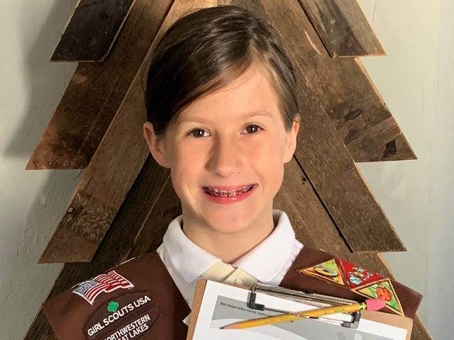 Oconto Girl Scout Brownie undertakes drive to collect hygiene items