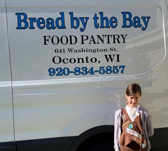 Sophia Lipp of Oconto will collect donations of hygiene items this weekend for Bread by the Bay Food Pantry.