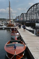 Boats dock next to the Michigan Street Bridge for last year's Door County Classic & Wooden Boat Show in Sturgeon Bay.