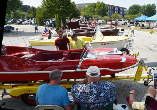 Visitors to last year's Door County Classic & Wooden Boat Show in Sturgeon Bay check out some of the boats on display on the grounds of the Door County Maritime Museum.