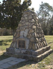The Dicey Langston memorial monument.KEN OSBURN/File