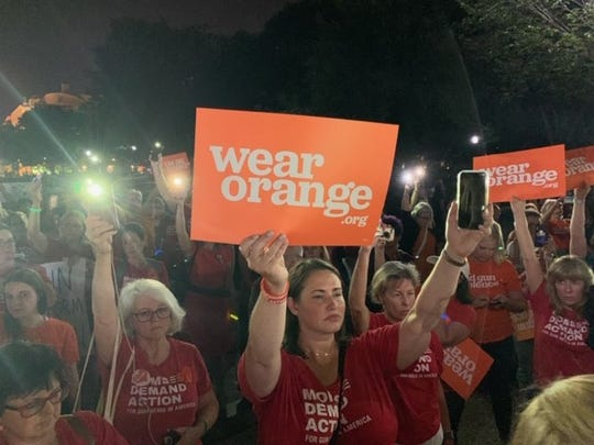 Moms Demand Action call on the Senate to take action on weapons bills.