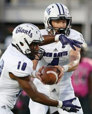 Ben Davis' Trent Gipson (right) and Alijawon Hassel (left) figure to be key figures in the Giants' backfield.