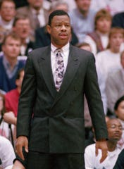 Northwestern Coach Ricky Byrdsong watches his team play in this Feb. 24, 1994 file photo.