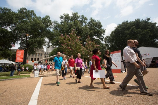 In this file photo, book lovers descend on the grounds of and near the State Capitol for the 2018 Mississippi Book Festival. This year, the 2019 Mississippi Book Festival will celebrate its 5th anniversary Saturday.