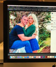 This photo of a computer screen shows Cpl. Jonathan Panks in an engagement photo which was posted on his Facebook page.