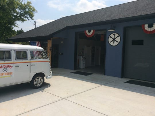 """Mark Gilleran fashioned The Depot Printhouse's exterior after the facility shown on the television show """"American Pickers."""""""