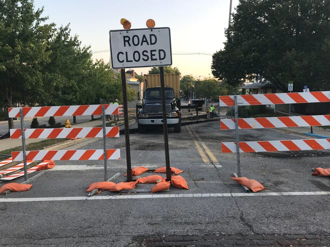 A one-block stretch of 10th Street, between Columbia and South streets, is scheduled to be closed through Aug. 16 for construction.