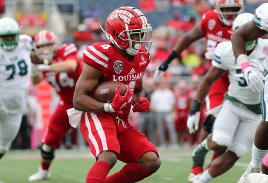UL's Raymond Calais is one of three Ragin' Cajun running backs generating a lot of buzz for the upcoming season.