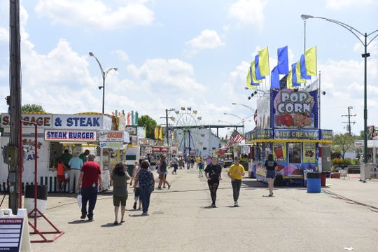 The midway at the Richland County Fair offers a variety of foods, rides and games.