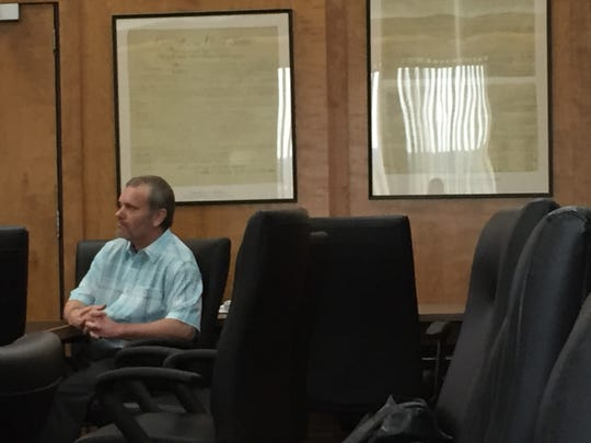 Delbert Matthews sits at the defense table Monday on the fifth day of his trial. On Tuesday, a Sexual Assault Nurse Examiner (SANE) testified that the alleged victim sustained injuries consistent with being raped.