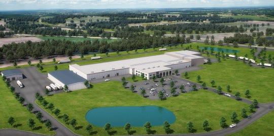 Franklin-based specialty meatpacker Strauss Brands, which has been purchased by a private equity firm, plans to develop a new plant, shown in this rendering, near Loomis and Ryan roads.