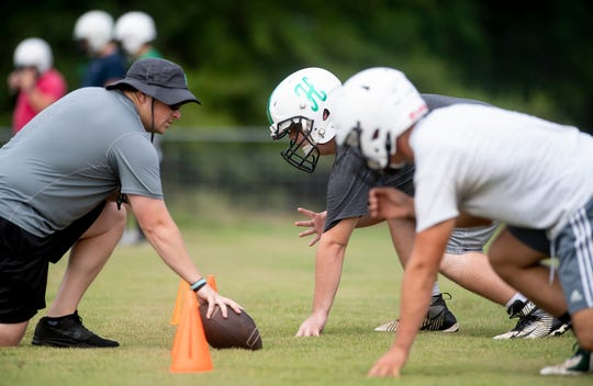 Holtville High School football practice is held at the school in Holtville, Ala., on Monday August 5, 2019.