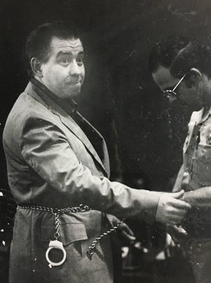 Muncie native Thomas Wayne Crump is shackled after a jury in Las Vegas, Nev., sentenced him to death, in May 1984, for his fourth murder conviction. Crump remained on Nevada's death row for 34 years before he died, of age-related ailments, last year.