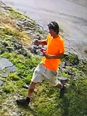 Described as a white, middle-aged man, this person is suspected of setting a fire at Yard Sale on Saturday August 3, 2019.
